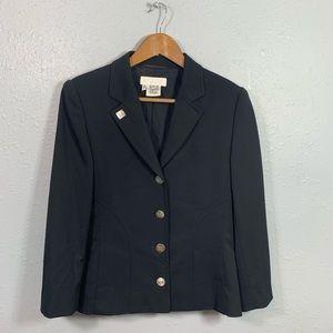 Escada Margaretha Ley Black Wool Blazer Size 36